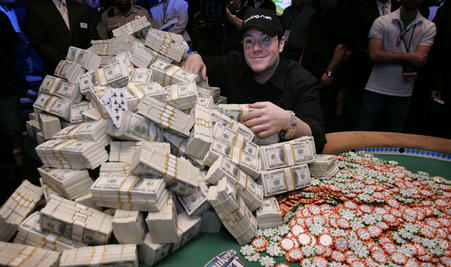 Jamie Gold collects $12m at the 2006 World Series of Poker